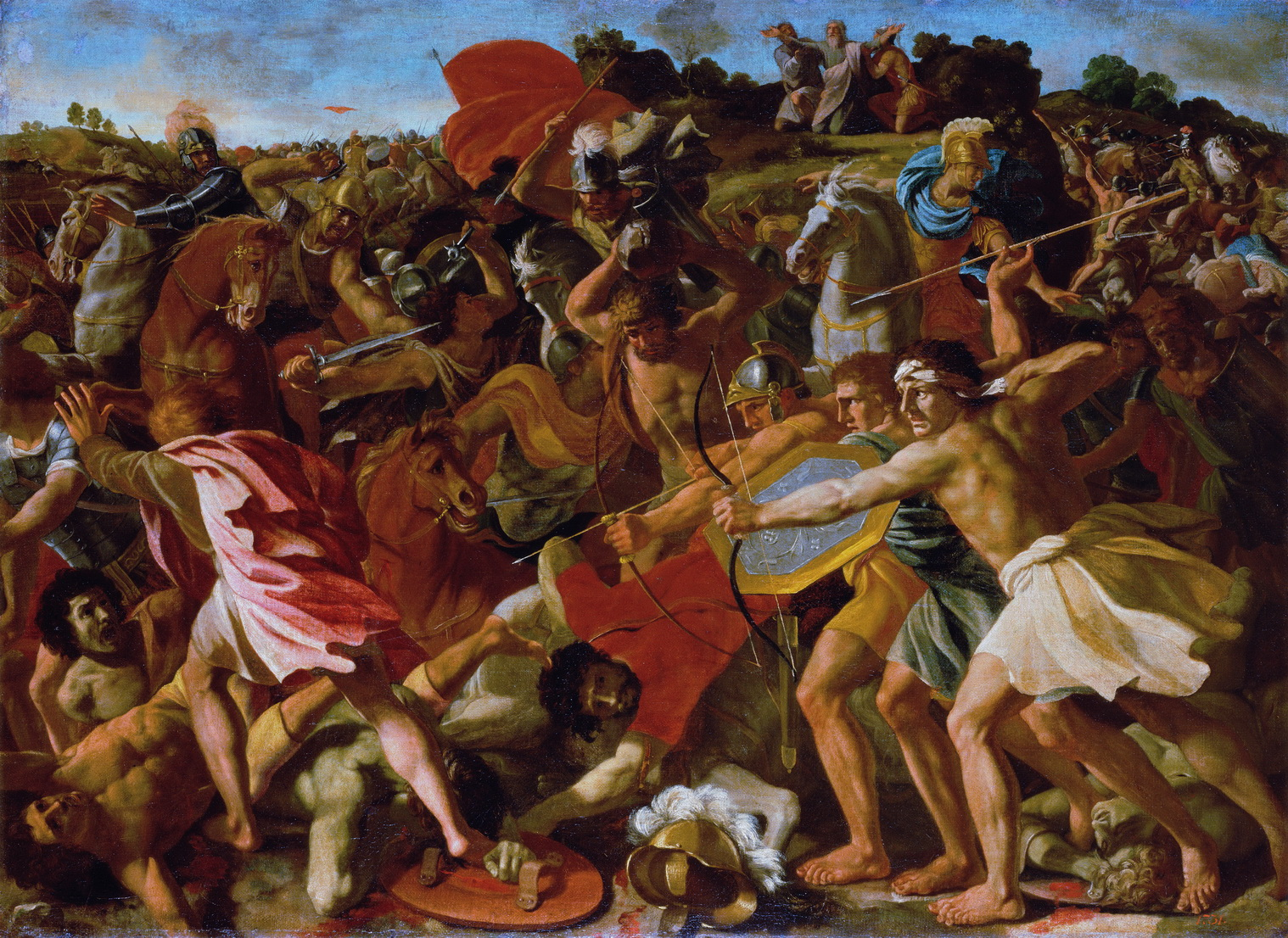 Joshuas Victory over the Amorites Nicolas Poussin 1594-1665-1500