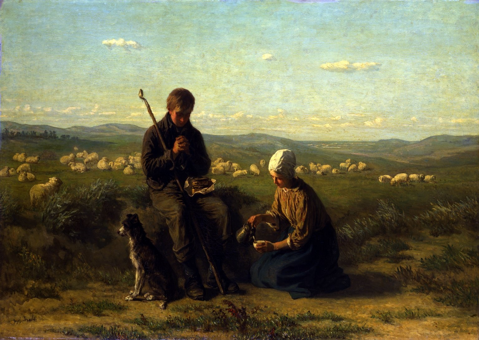 Jozef Israels The Shepherds Prayer