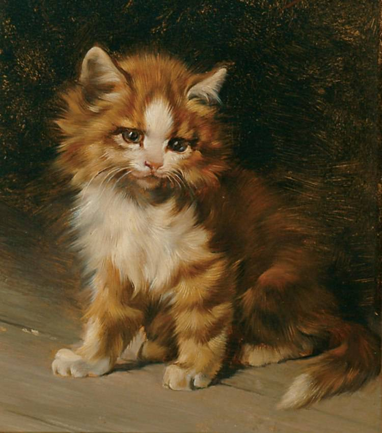 Julius Adam. Munich 18521913 a cat