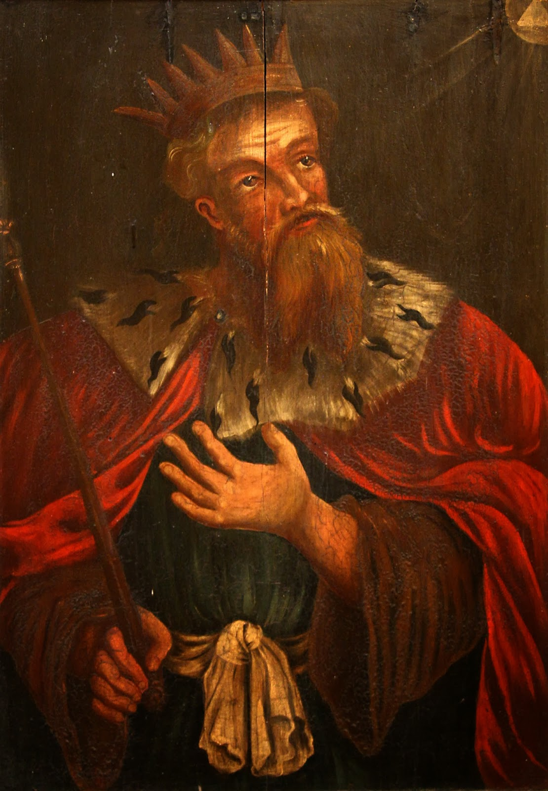 King Hezekiah on a 17th-century painting