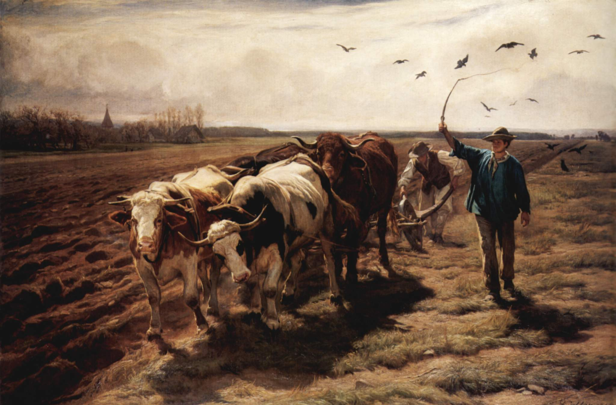 Koller  Rudolf The Ploughing with Oxes-2