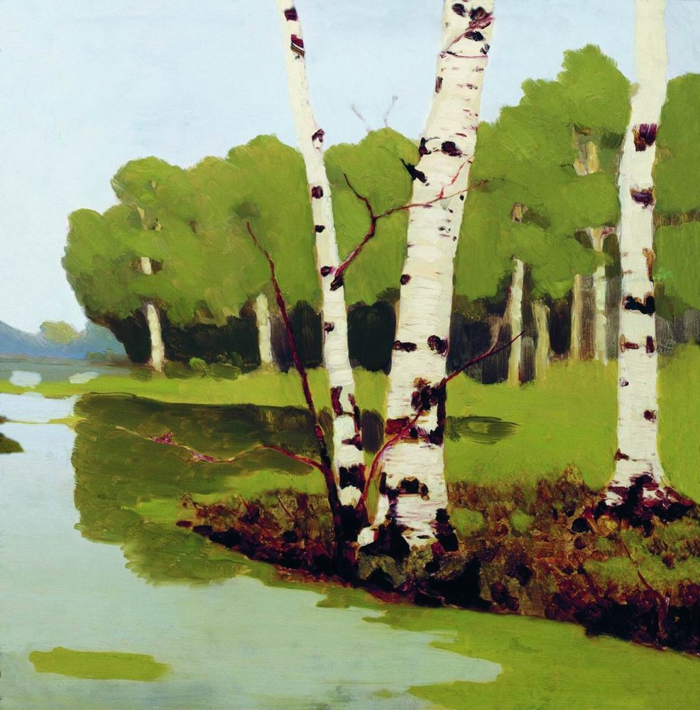 Kuindzhi Birch trunks 1879