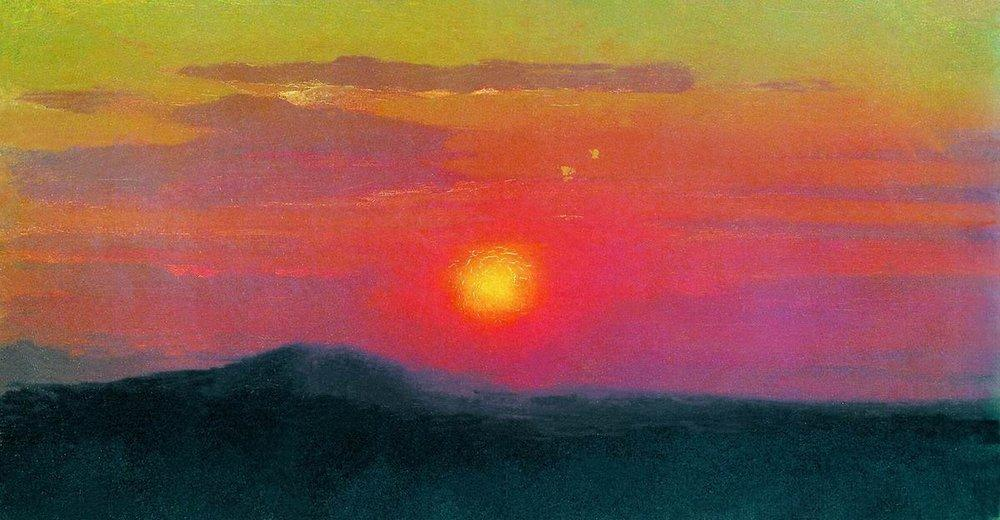 Kuindzhi Red sunset study 1890 1895