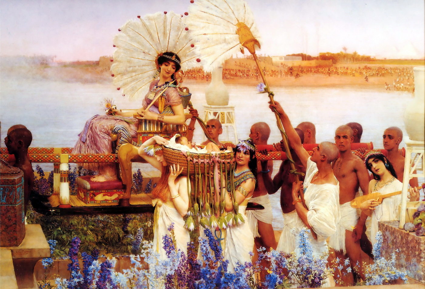 Lawrence Alma-Tadema - The Finding of Moses-1904-1400
