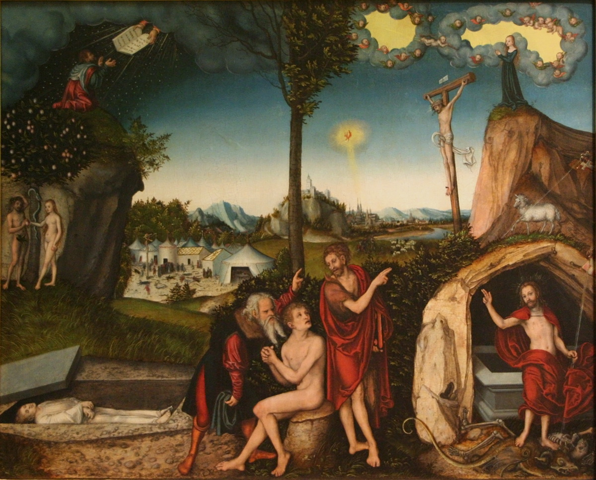 Lucas Cranach I - The Law and the Gospel-1200