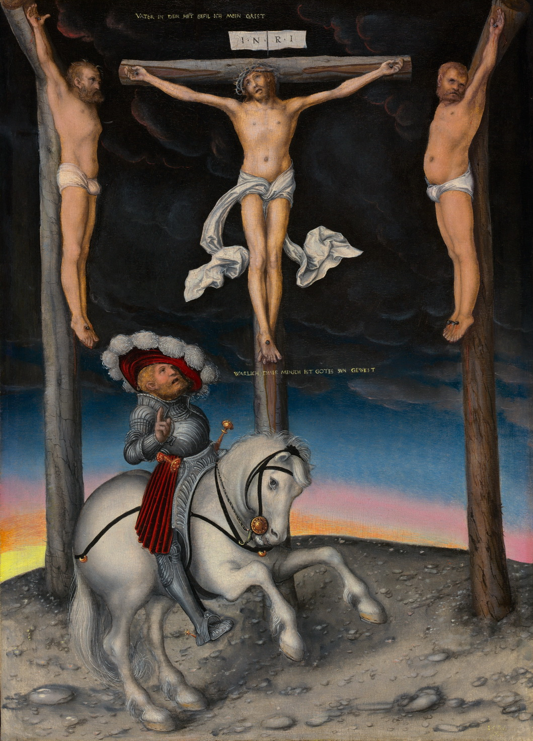 Lucas Cranach the Elders The Crucifixion with the Converted Centurion 1536-