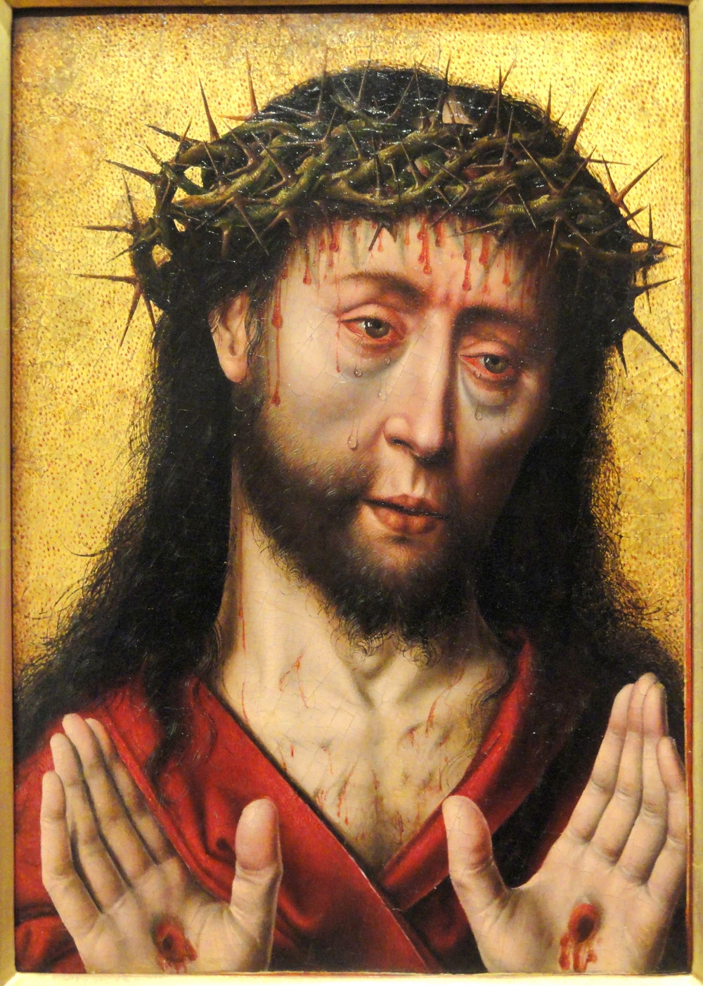 Man of Sorrows by Aelbrecht Bouts mid 1490s02
