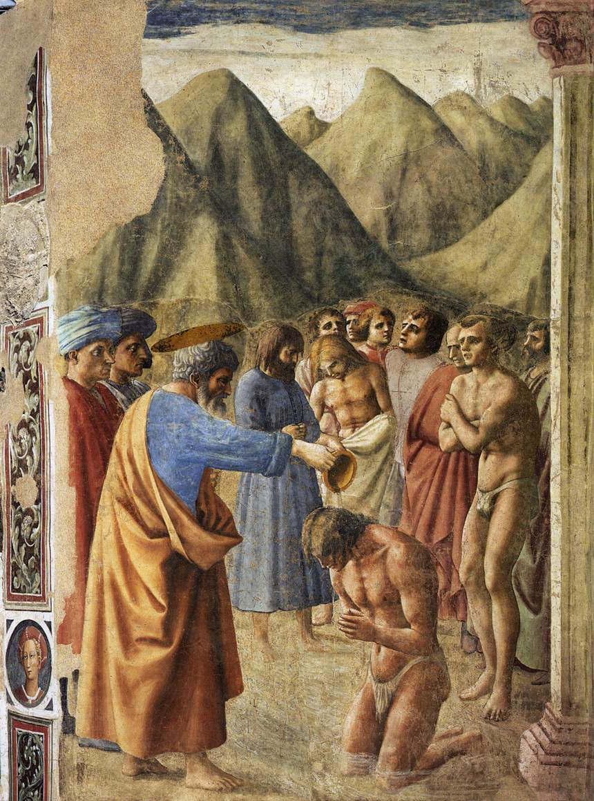 Masaccio The Baptism of the Neophytes 1426-27