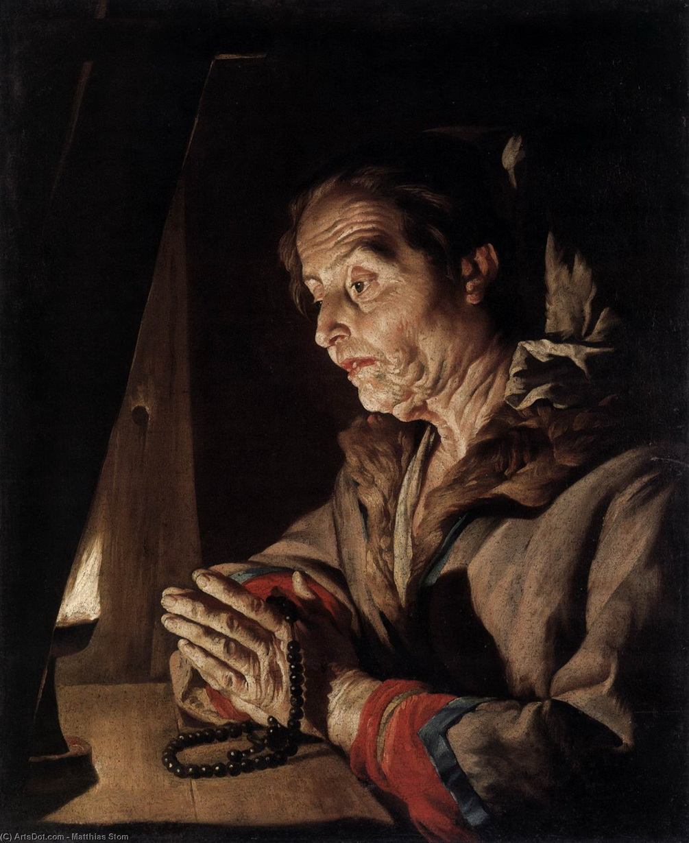 Matthias stom-old woman praying-2