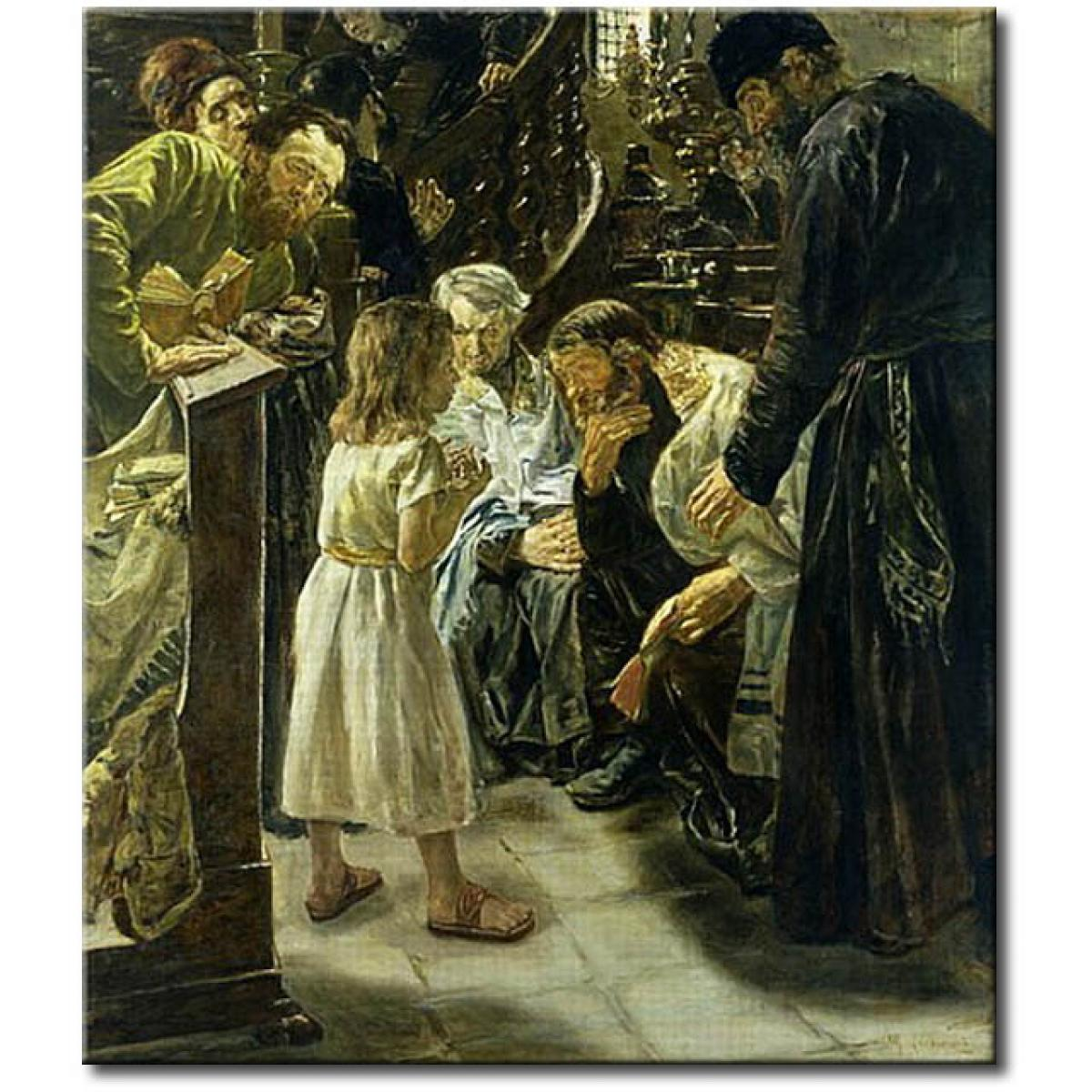 Max Liebermann-12-year-old Jesus in the Temple with the Scholars 1879