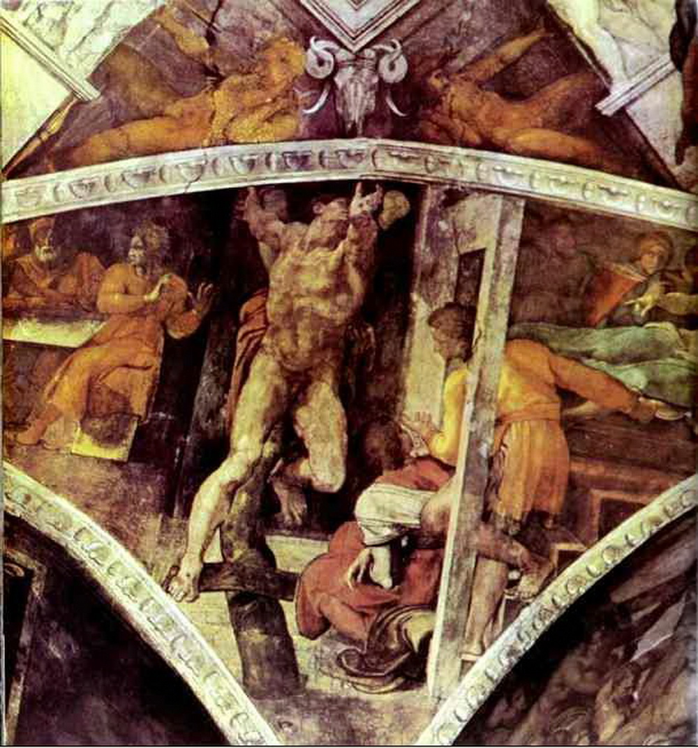 Michelangelo.-The-Punishment-of-Haman.-1508-1512.-Fresco.-Sistine-Chapel-Vatican-2