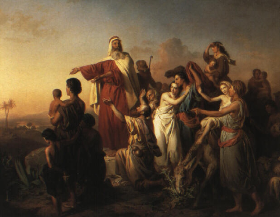 Molnár Moses leading the Israelites out of Egypt 1861