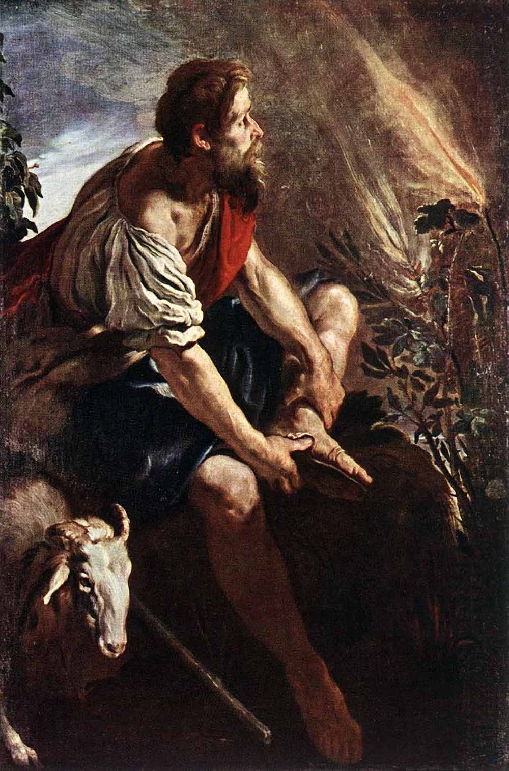 Moses Before The Burning Bush Baroque figures Domenico Fetti