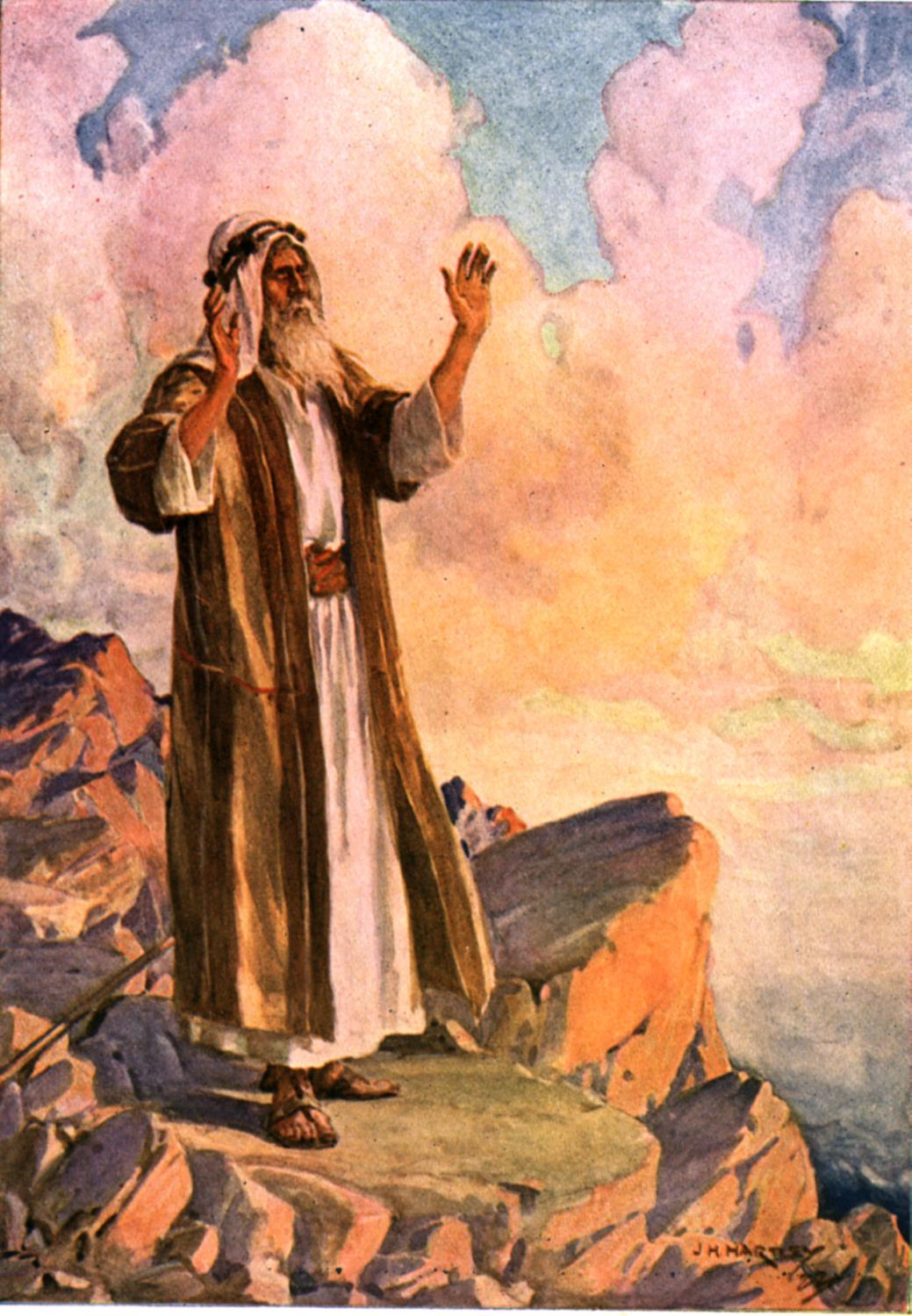 Moses Praying by JH Hartley 1922