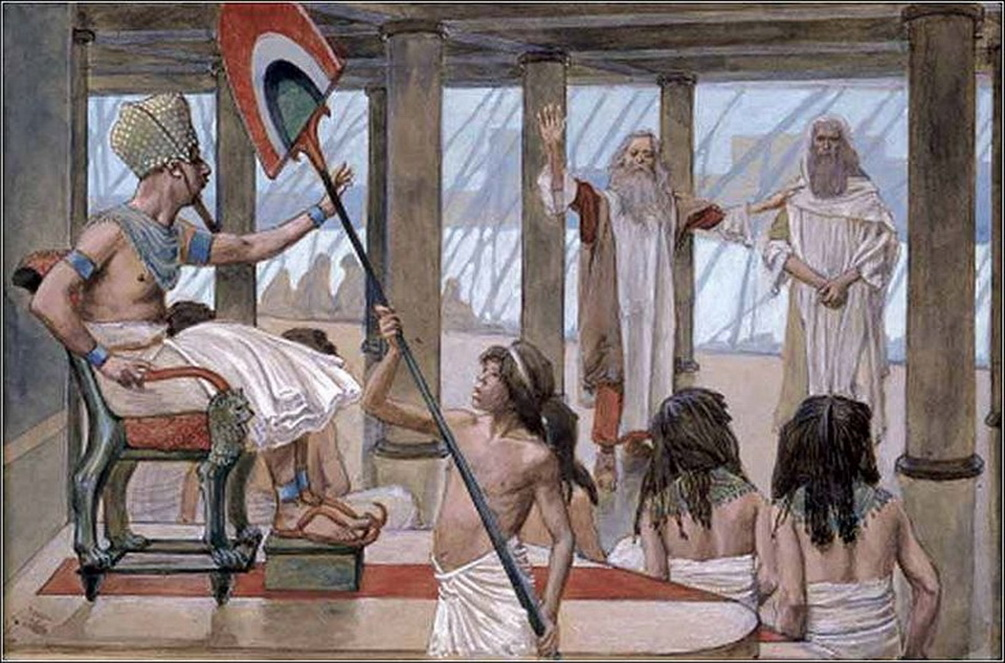 Moses Speaks to Pharaoh watercolor circa 18961902 by James Tissot-1005