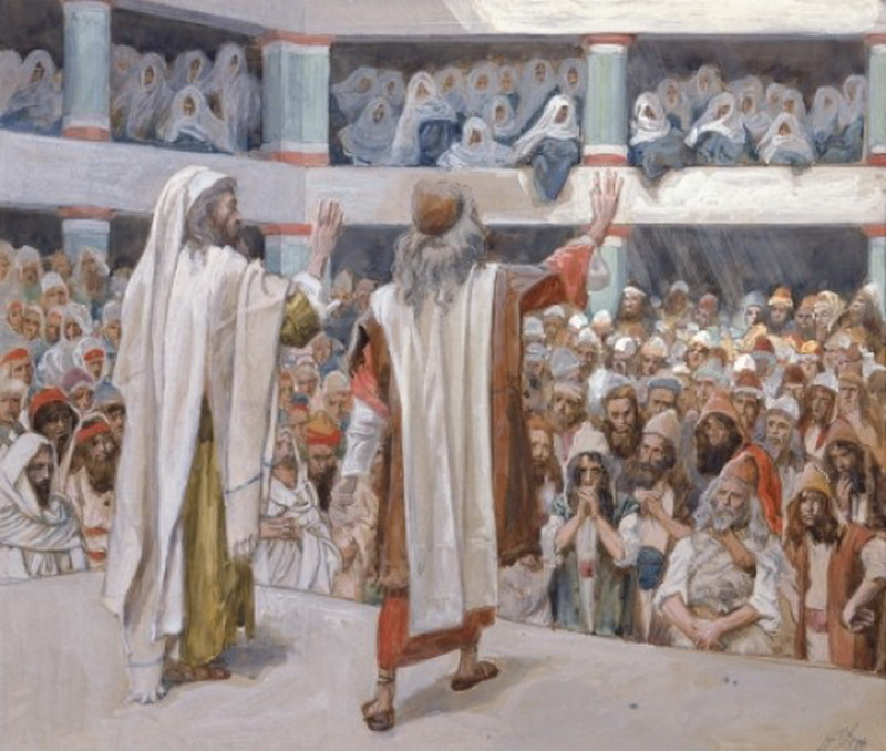 Moses and Aaron Speak to the People watercolor circa 18961902 by James Tissot-800