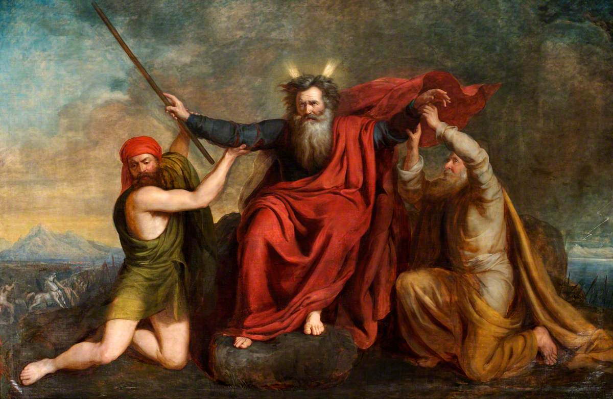 Moses with His Arms Supported by Aaron and Hur - Thomas Brigstocke