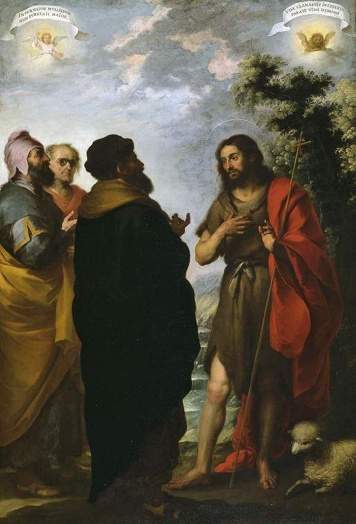 Murillo 1617-1682 St. John the Baptist with the Scribes and Pharisees