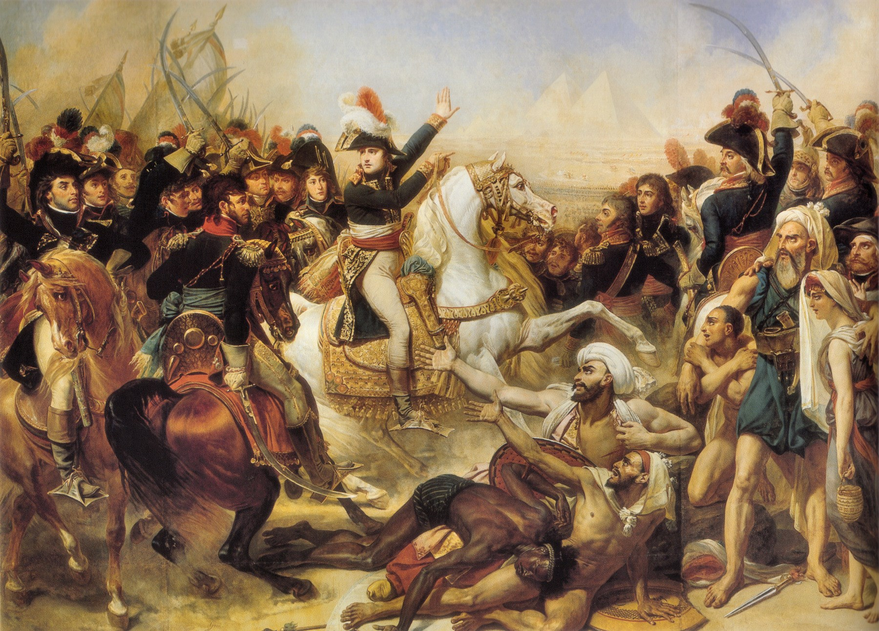 Napoleon Haranguing the Army Before the Battle of the Pyramids-Antoine-Jean Gros