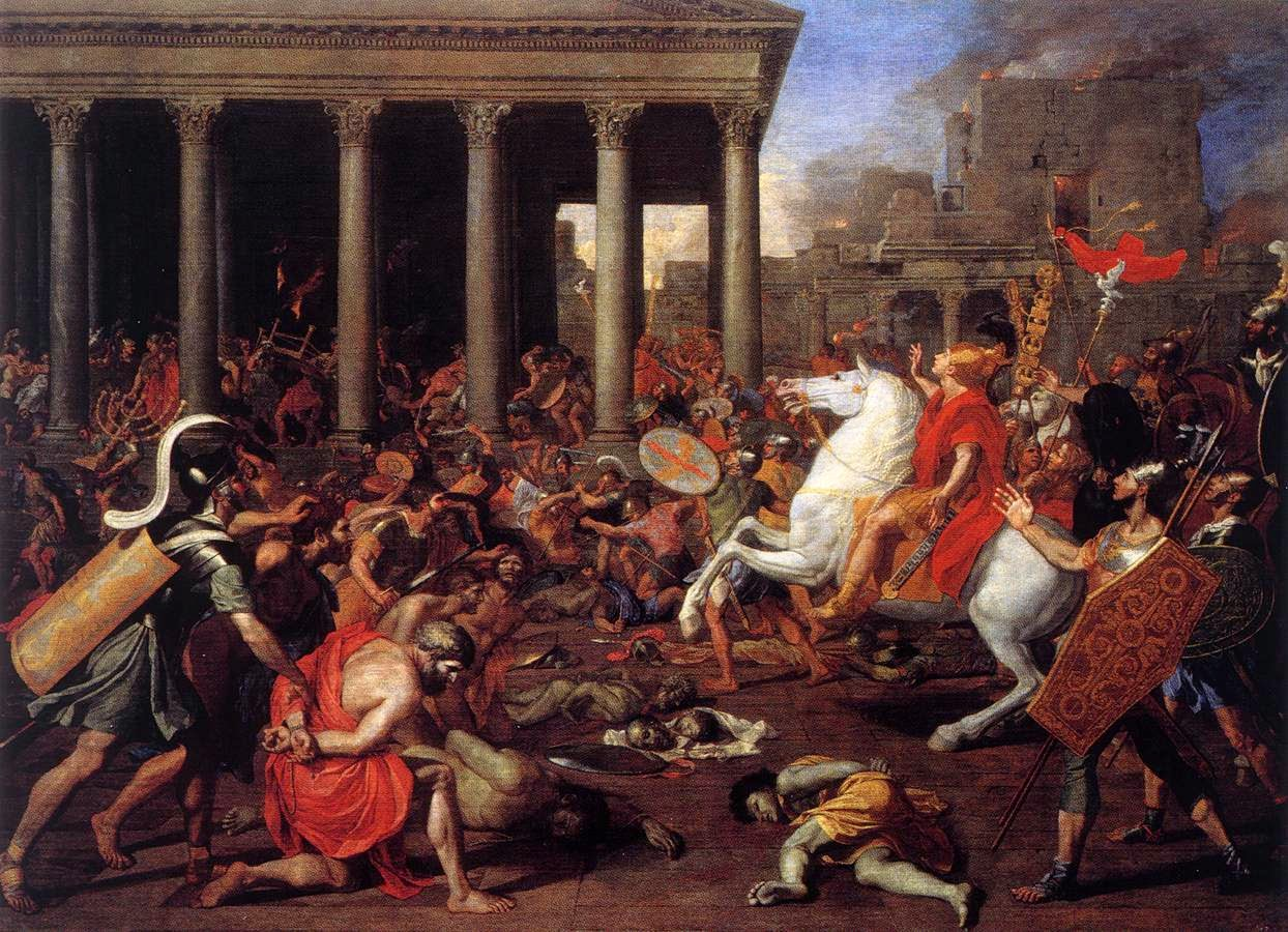 Nicolas Poussin-The Destruction of the Temple at Jerusalem II