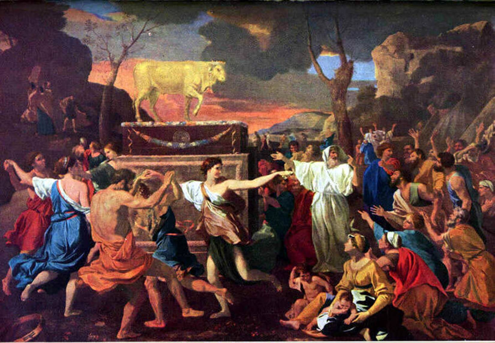 Nicolas Poussin. Year 16331634-Golden calf