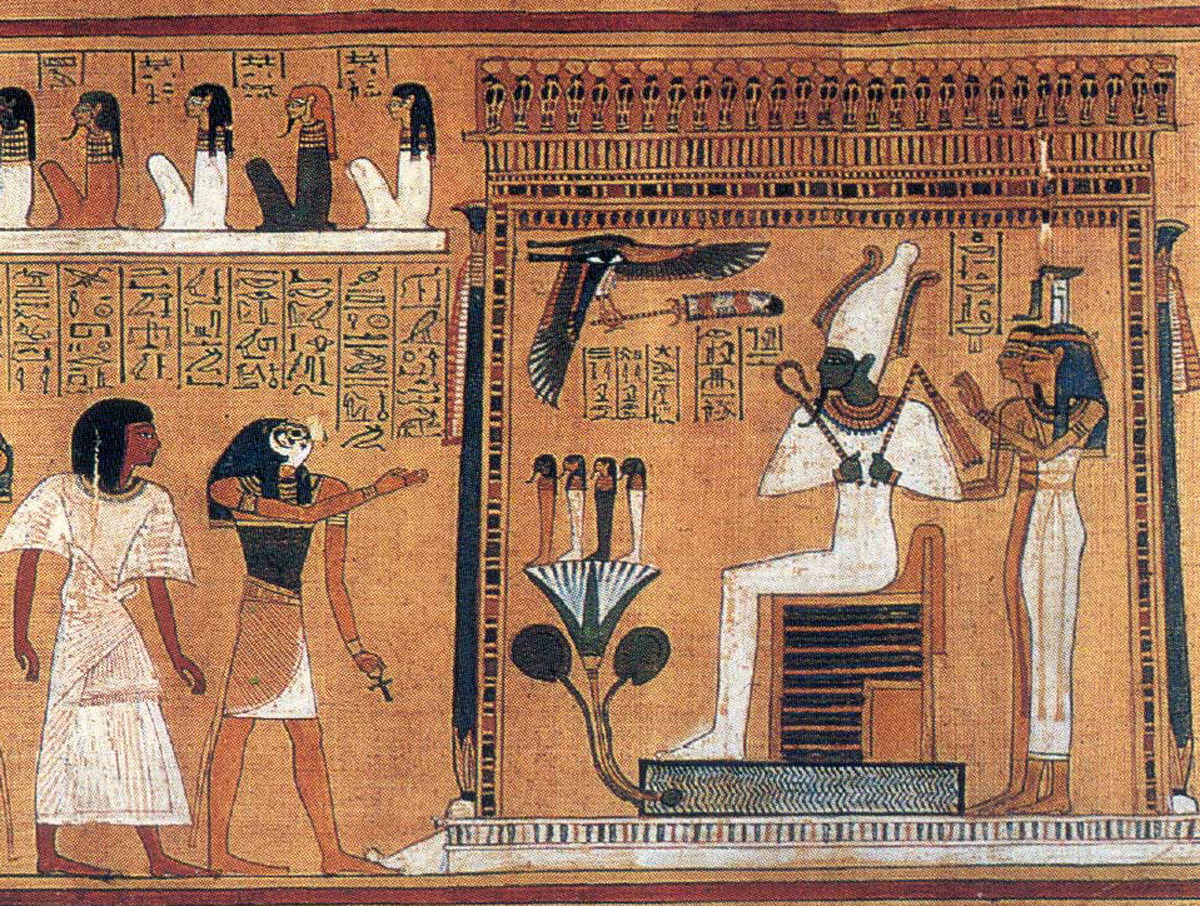 Osiris enthroned- the Egyptian Books of the Dead-1200