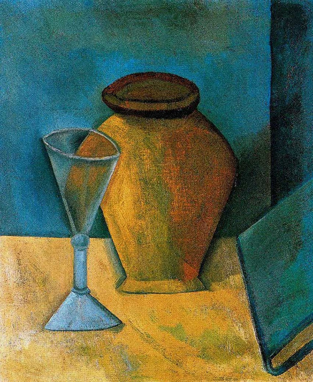 Pablo Picasso pot-glass-and-book-1908