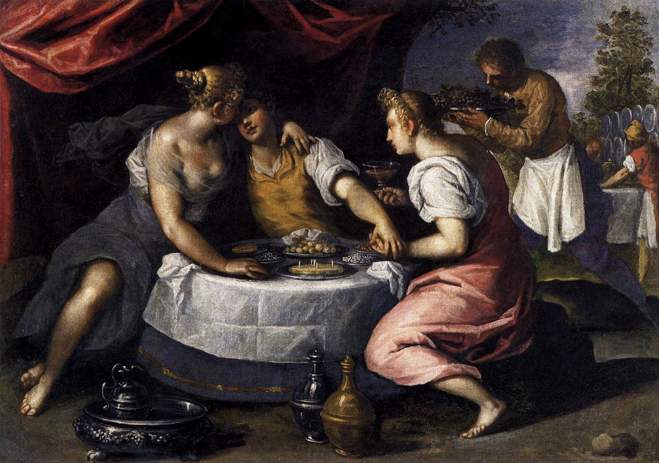 Palma il Giovane - Amusements of the Prodigal Son - 1595-1600