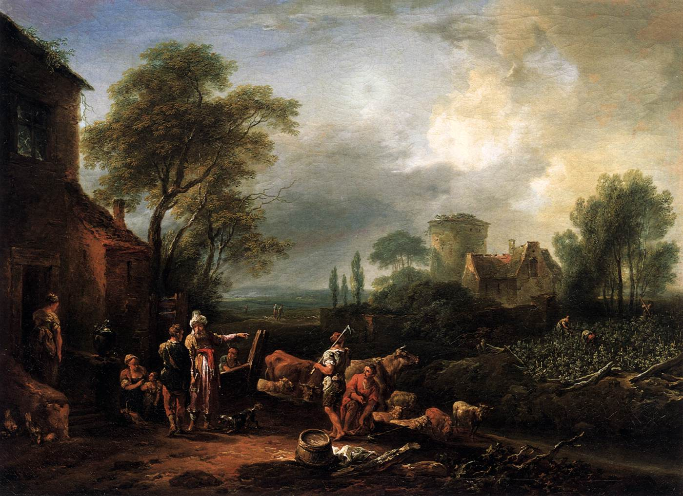 Parable of the Workers in the Vineyard Johann Christian Brand painted 1769