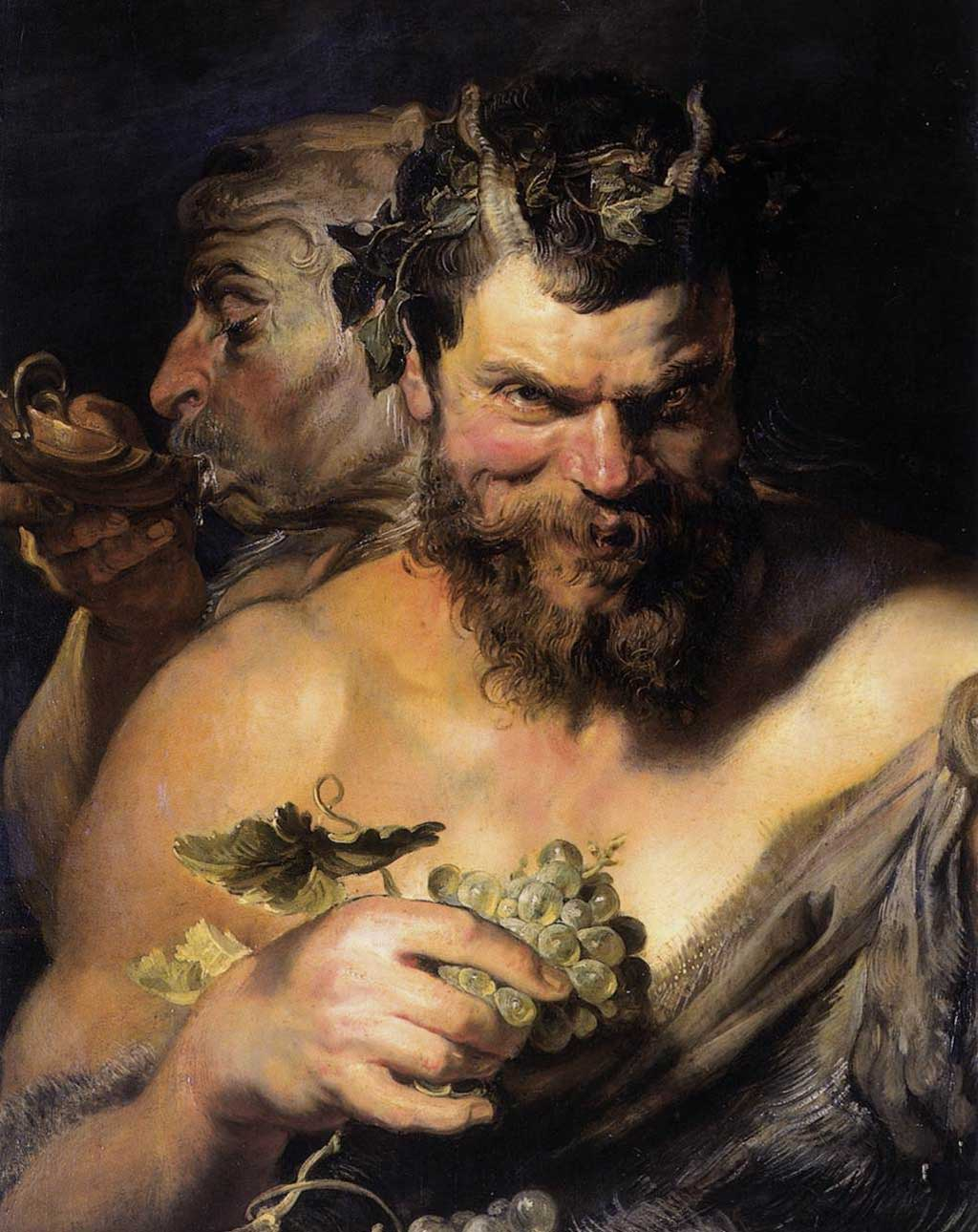 Peter-Paul-Rubens Two-Satyrs 1618-1619