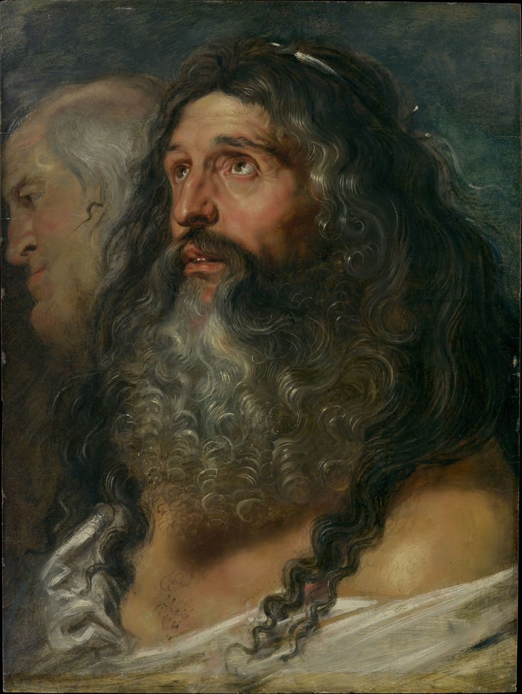 Peter Paul Rubens-Study of Two Heads