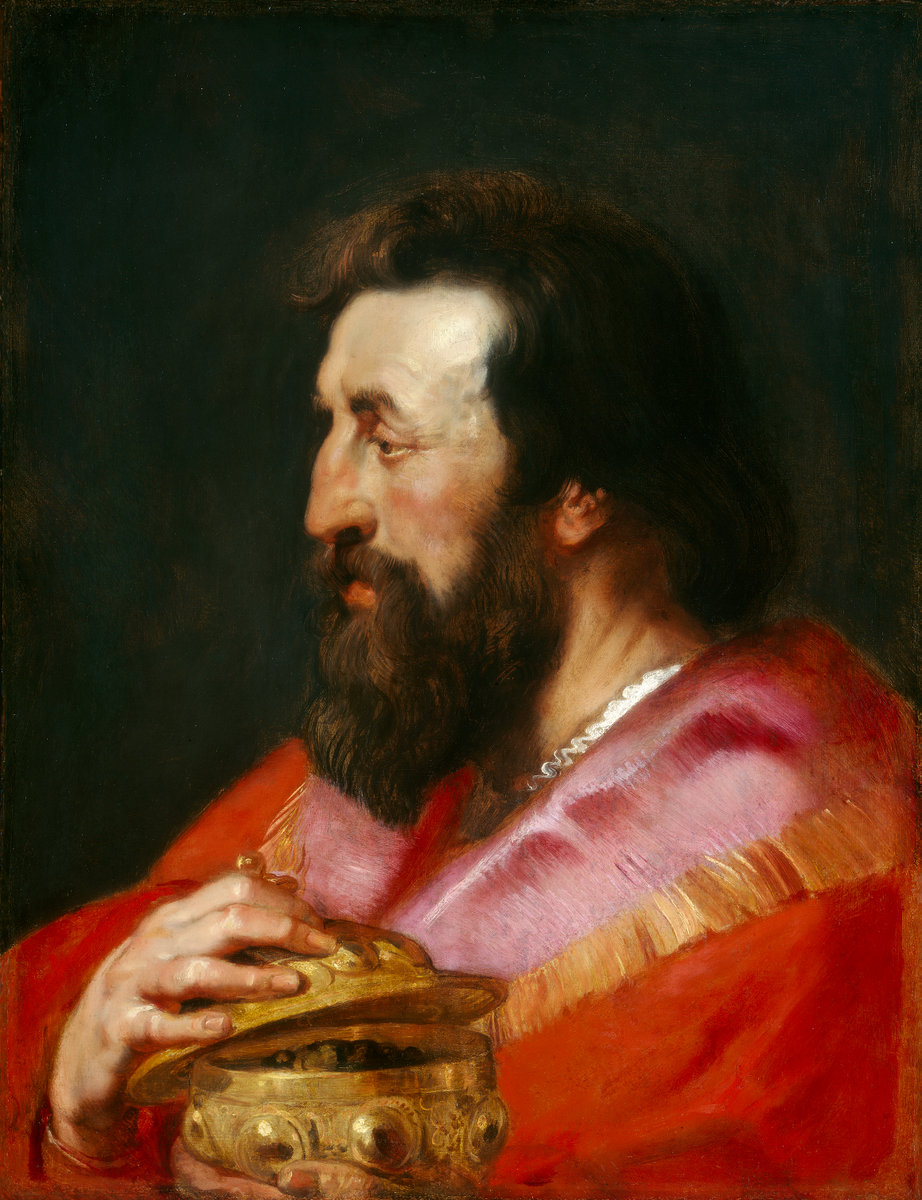 Peter Paul Rubens and Studio 1577  1640 Head of One of the Three Kings Melchior The Assyrian King c. 1618