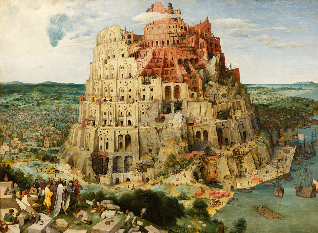 Pieter Bruegel the Elder - The Tower of Babel Vienna edited