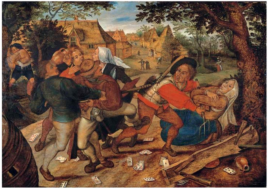 Pieter Brueghel II 1564.5-1637.8 . The Peasants Brawl-1615