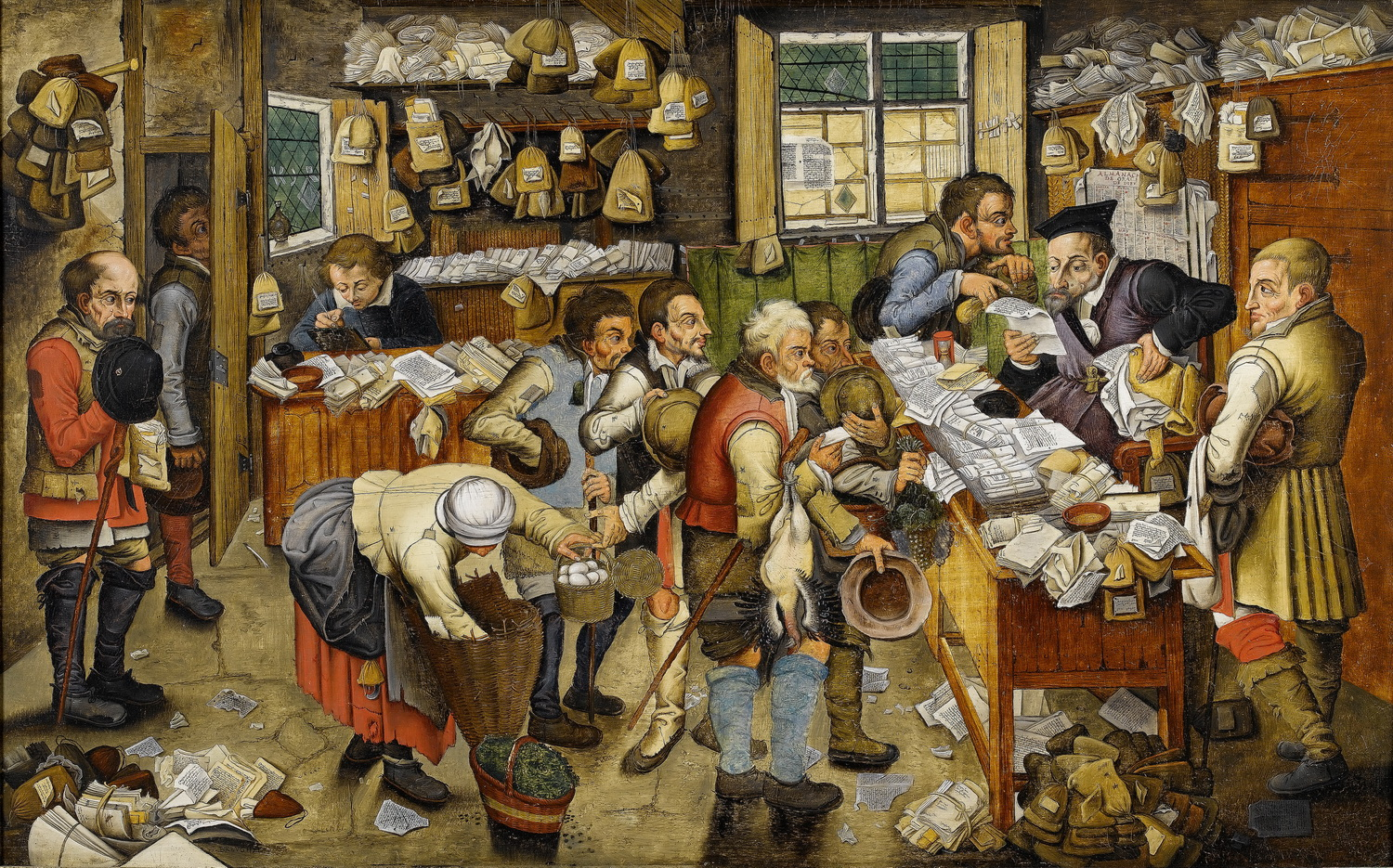Pieter Brueghel the Younger or workshop The Payment of the Tithes Bonhams-2