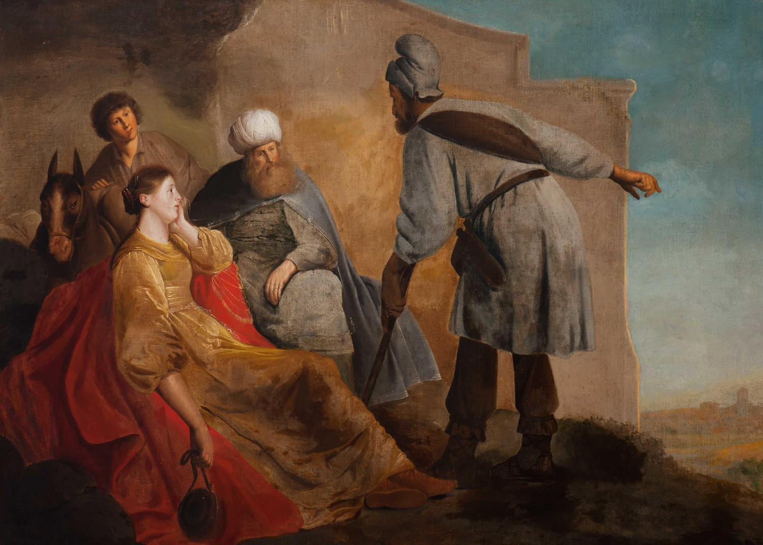 Pieter de Grebber The laborer of Gibea offering hospitality to the Levite and his concubine-1500