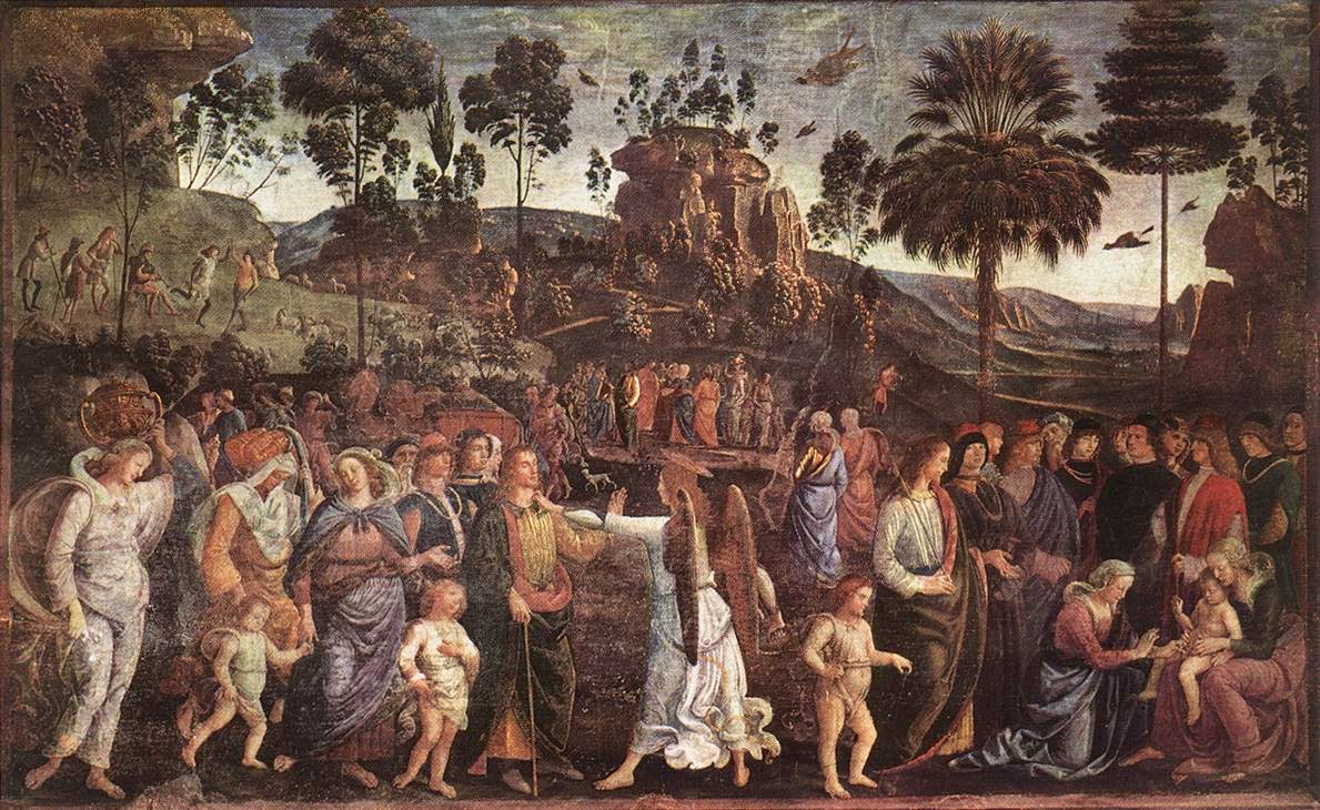 Pietro Perugino - Mosess Journey into Egypt and the Circumcision of His Son Eliezer