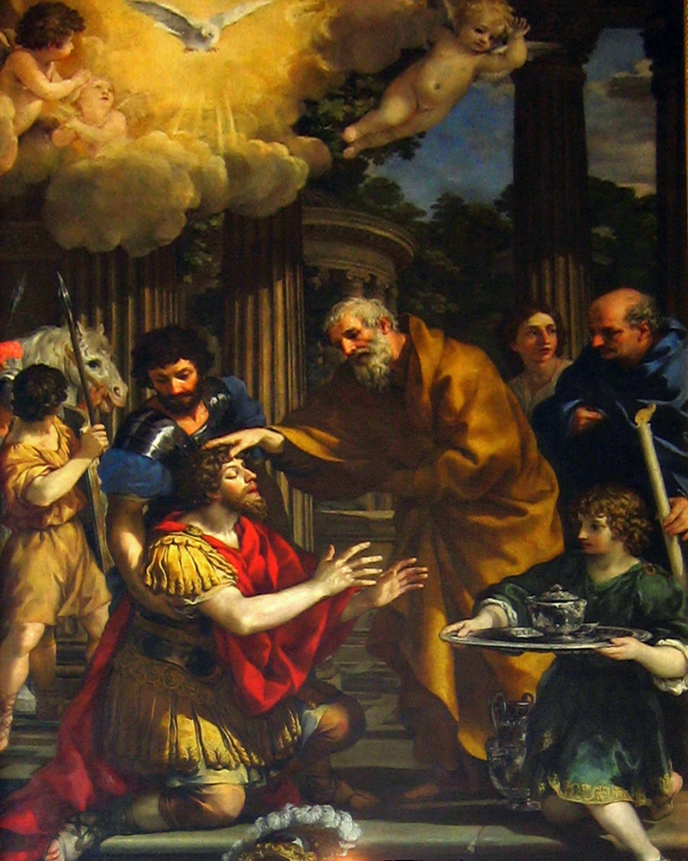 Pietro da Cortona Ananias Restoring Sight of St. Paul-1000