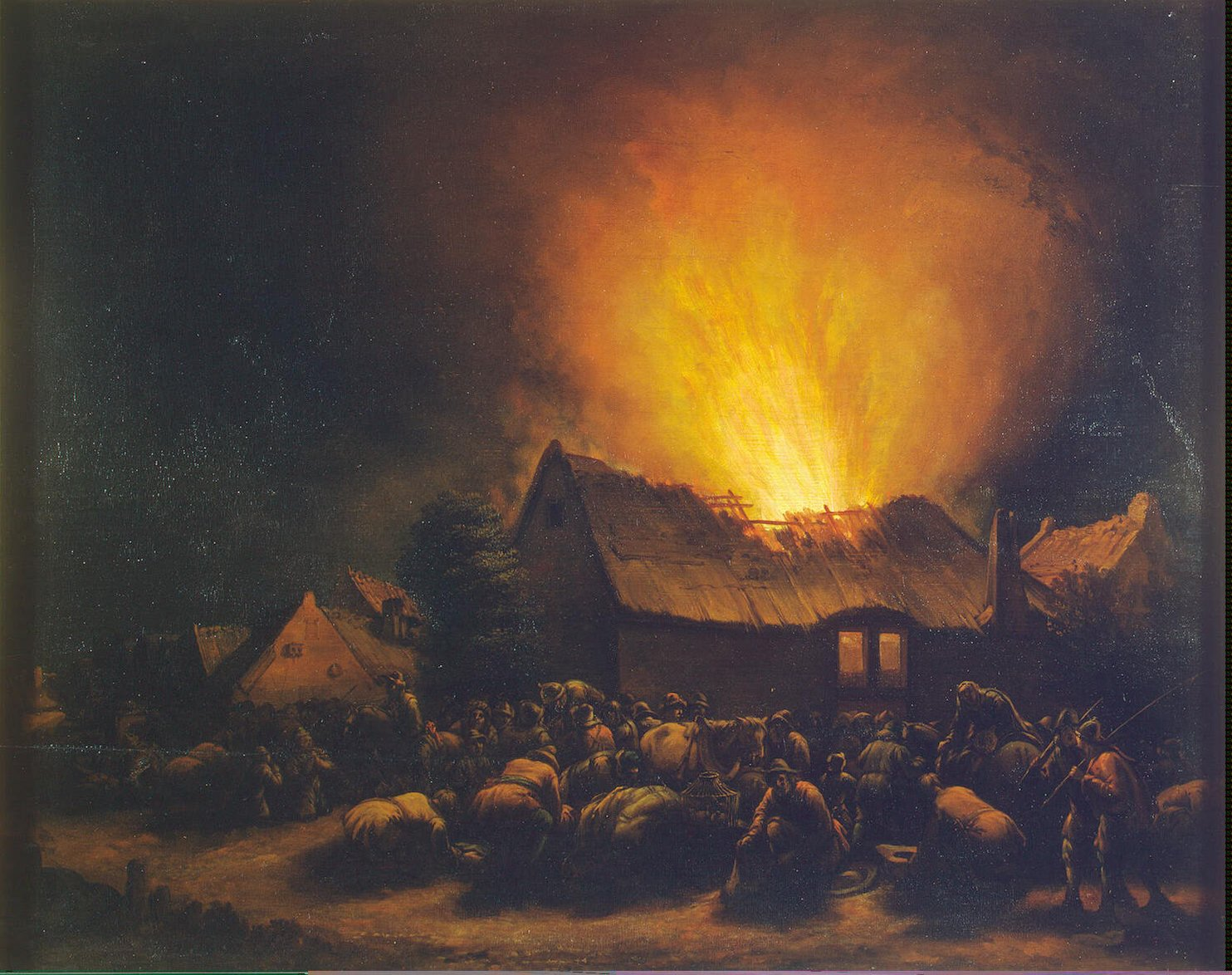 Poel Egbert Lievensz van der-ZZZ-Fire in a Village