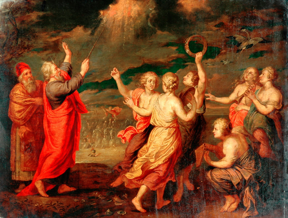 Poussen-The Israelites Rejoicing after Crossing the Red Sea-1100
