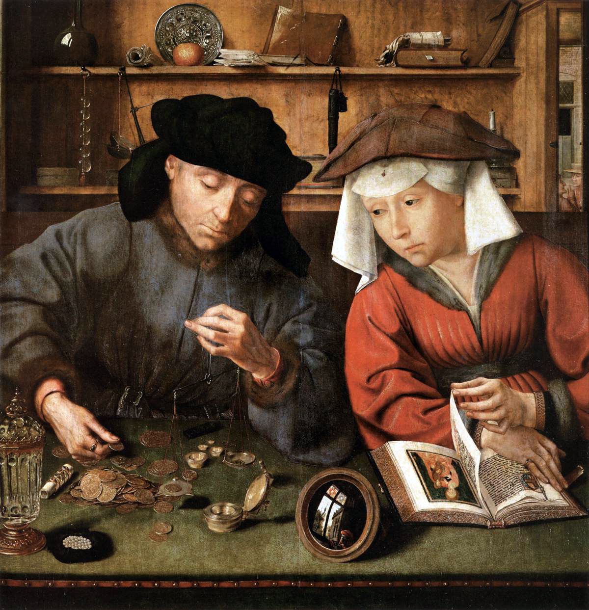 Quentin Matsys Money Changer and His Wife