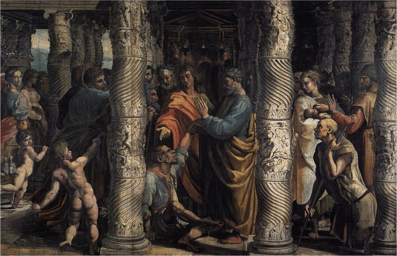Raphael The Healing of the Lame Man 15152