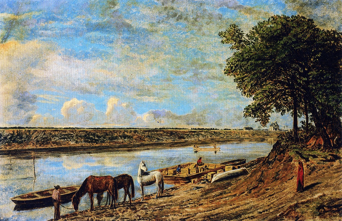 Red-River-Ferry-across-to-St-Boniface-William-George-Richardson