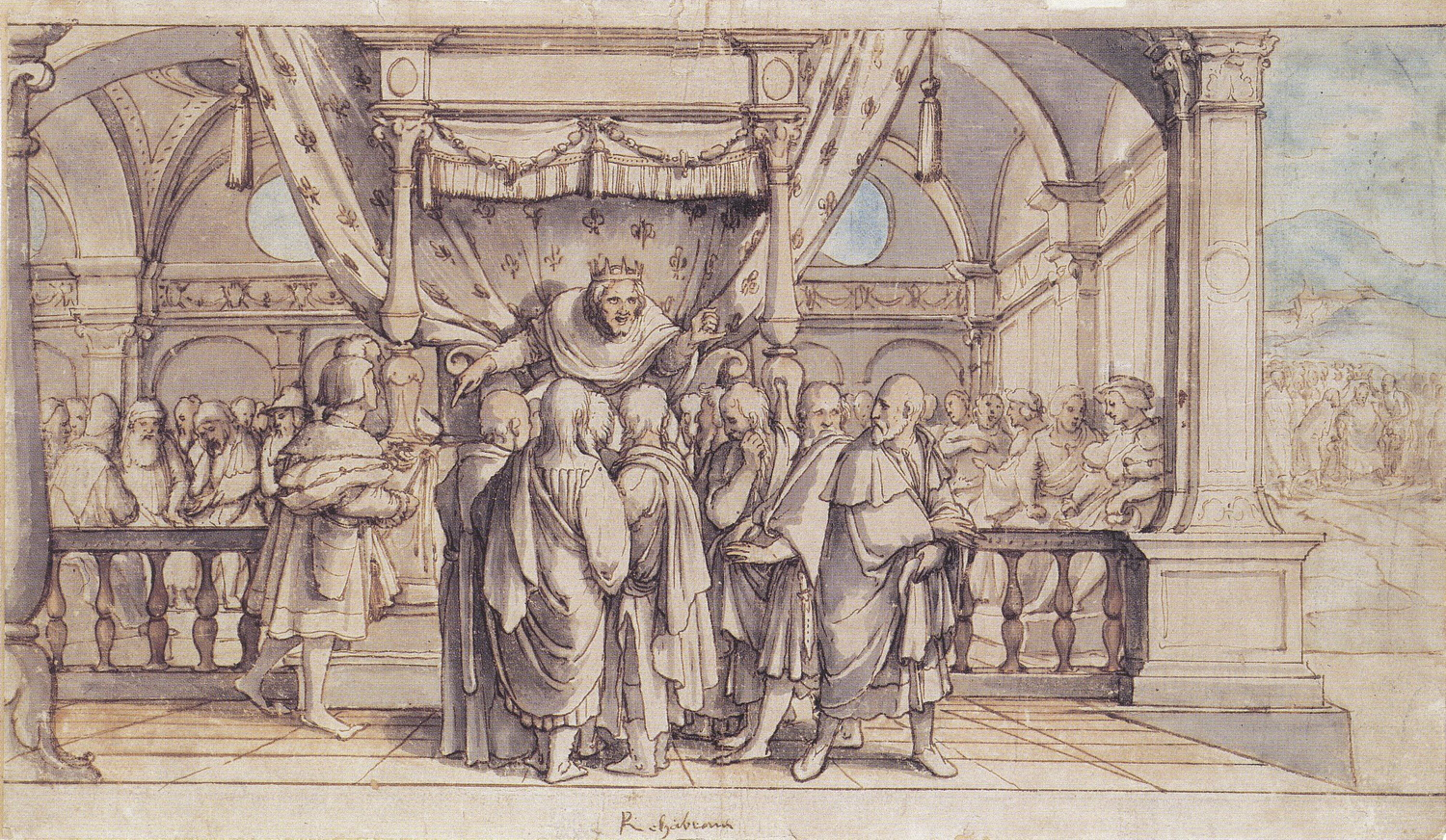 Rehoboams Insolence by Hans Holbein the Younger-2
