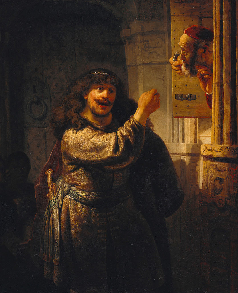 Rembrandt - Samson threatened his father-in-law 2