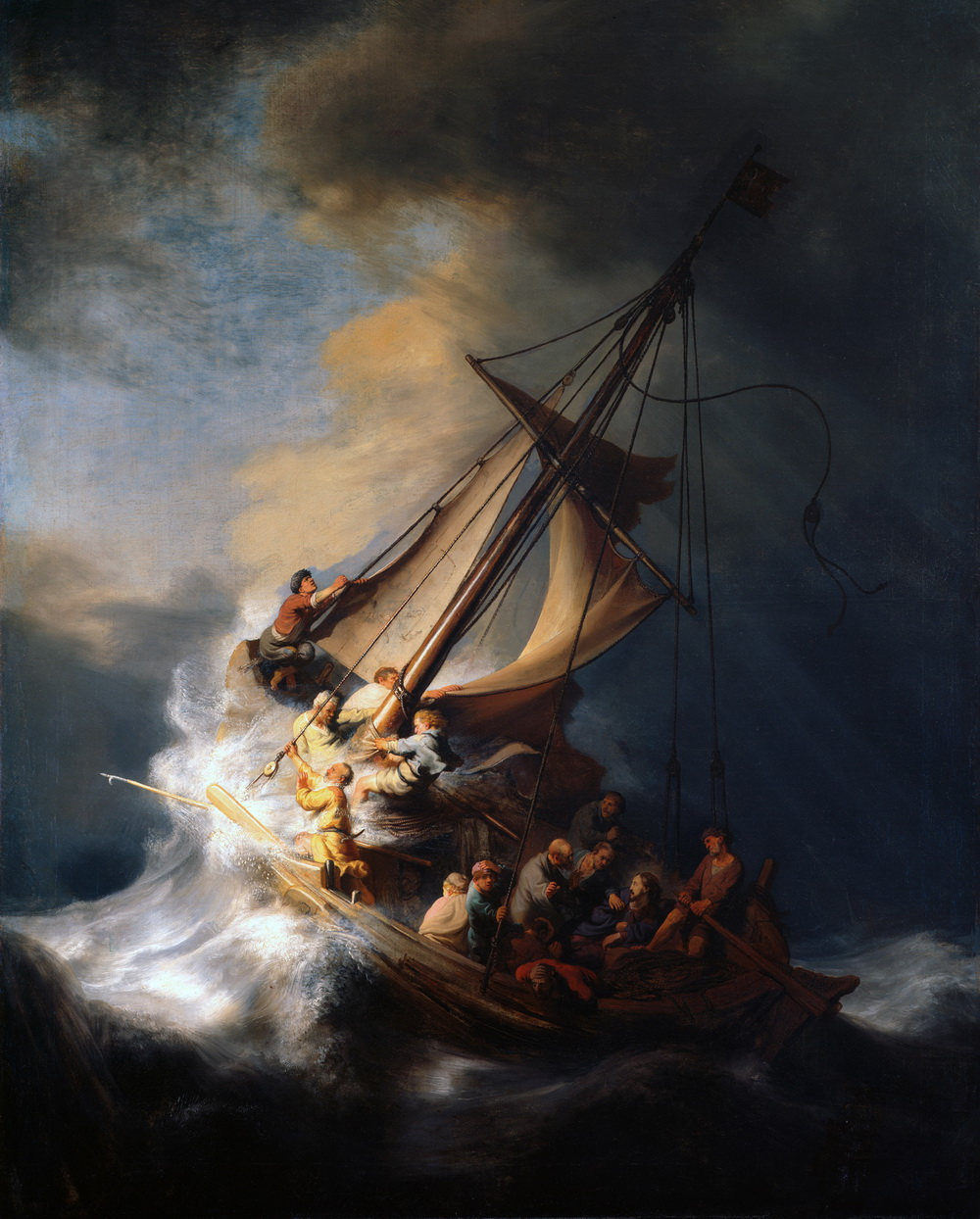 Rembrandt Christ in the Storm on the Lake of Galilee-1000