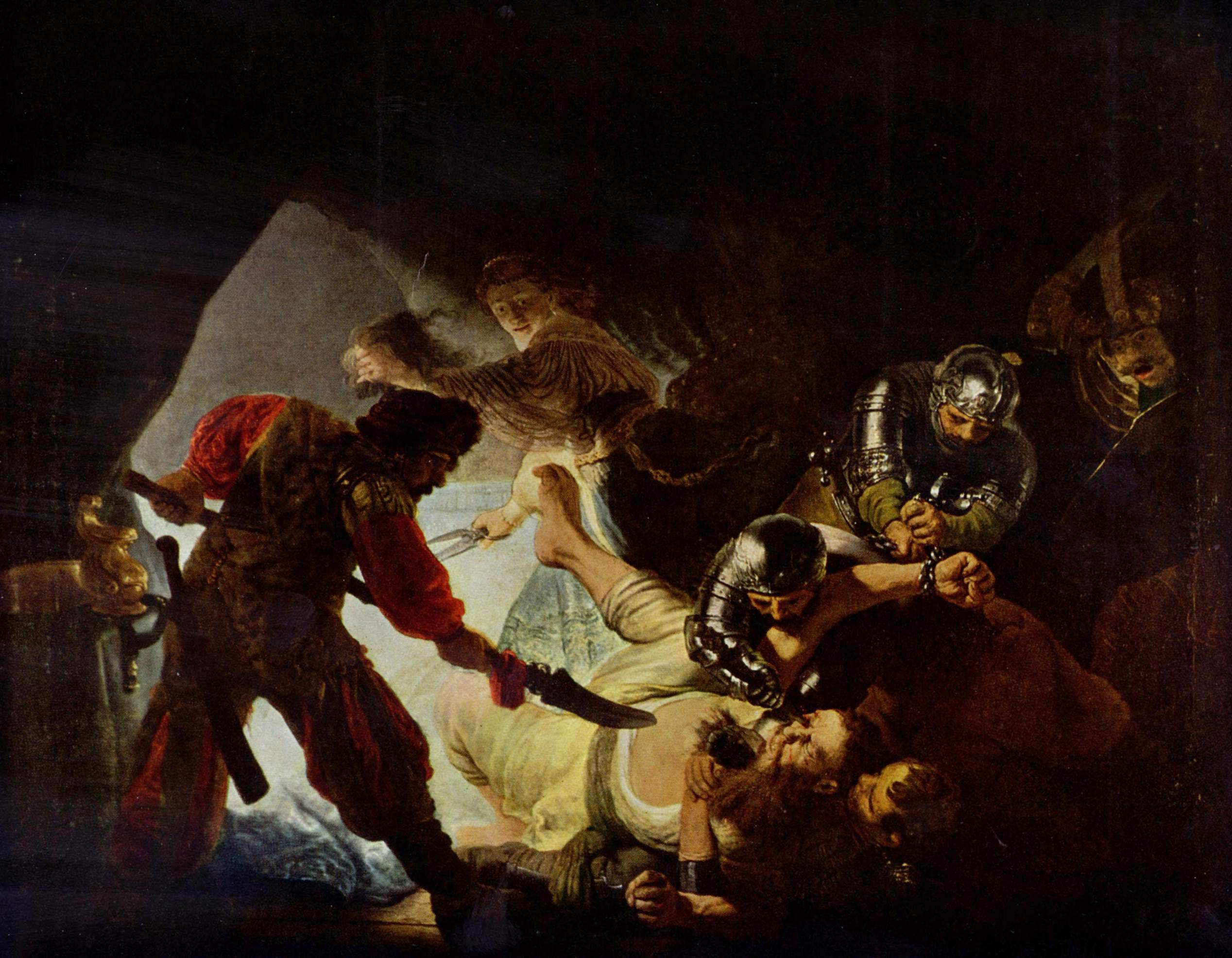 Rembrandt Harmensz. van Rijn 041-The Blinding of Samson 1636