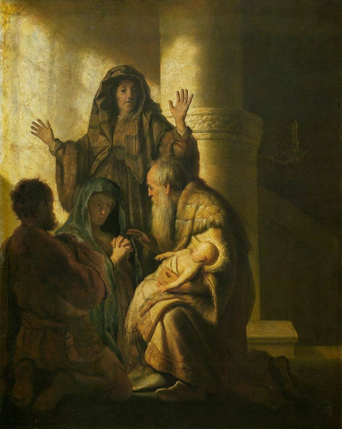Rembrandt Simeon And Anna Recognize The Lord In Jesus