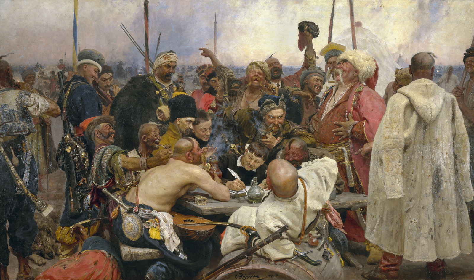 Repin - Reply of the Zaporozhian Cossacks - Yorck-1600