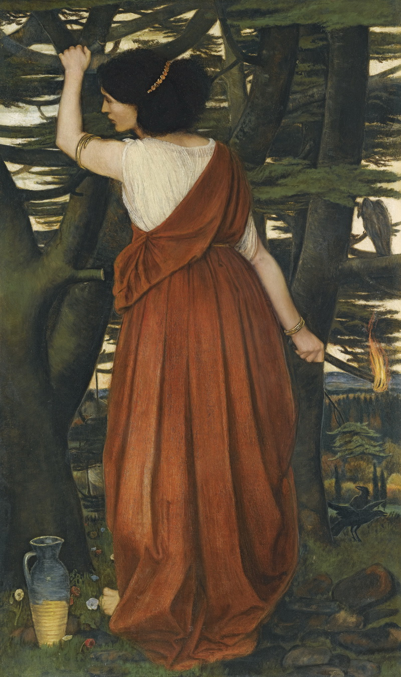 Rizpah the Daughter of Aiah by John Roddam Spencer Stanhope-800